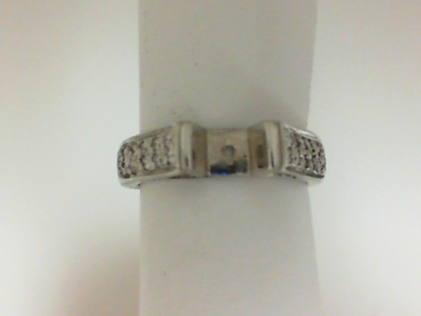 Fashion Ring - Lady's White 18 Karat -1Sdw -1Tdw Fashion Ring Size 6.5  semi mount (HALF OFF ITEMS ARE NOT RETURNABLE)