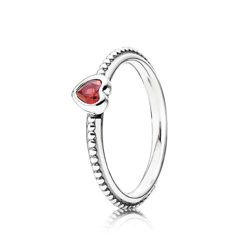 Pandora Ring - One Love, Golden-Red Synthetic Ruby