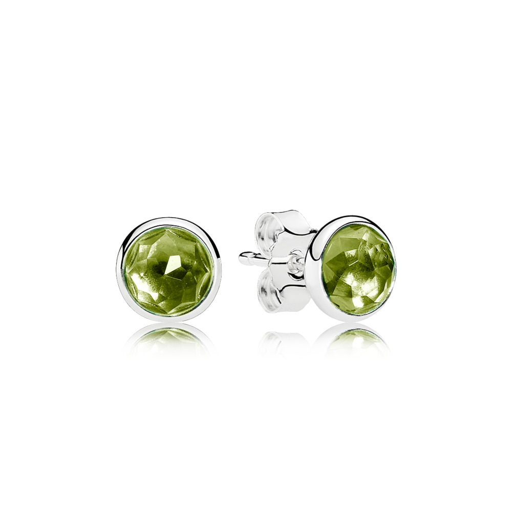 PANDORA EARRINGS - Earring Studs August Droplets with Peridot