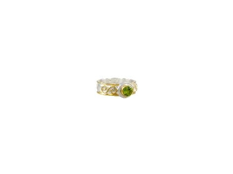 Michou Gemstone Ring - Sterling Silver and 22K Gold Vermeil Ring with Peridot
