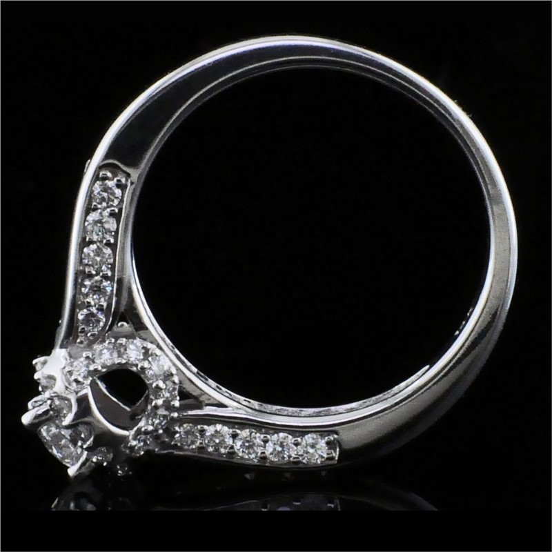 Diamond Engagement Rings - Halo Style Diamond Engagement Ring - image #3