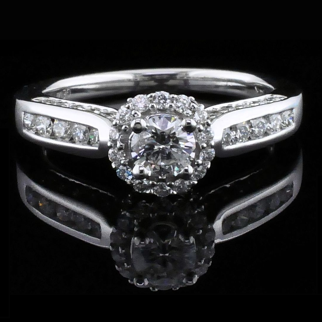 Diamond Engagement Rings - Halo Style Diamond Engagement Ring