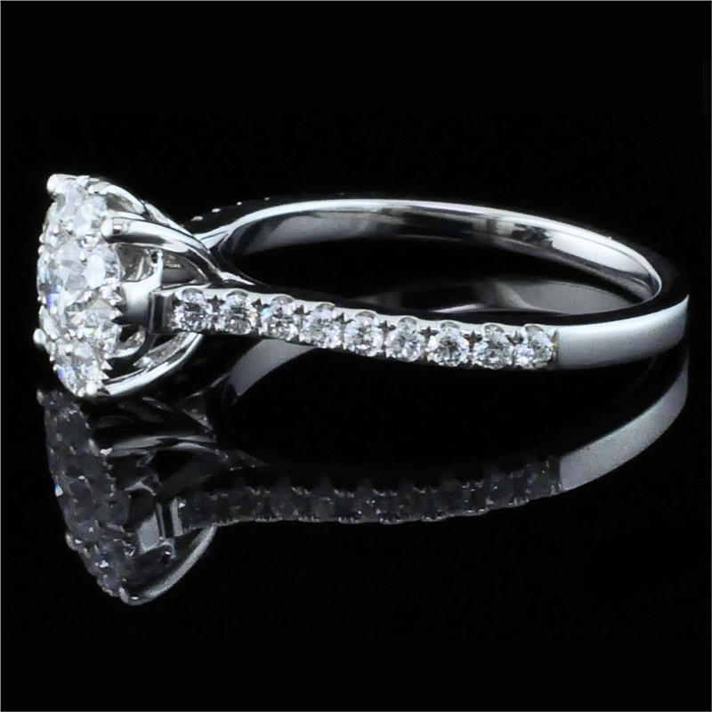 Diamond Engagement Rings - Diamond Halo Engagement Ring - image 2