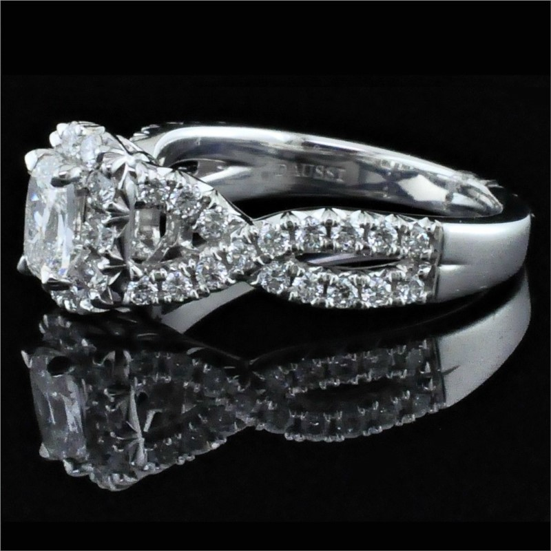 Diamond Engagement Rings - Henri Daussi Diamond Engagement Ring - image 2