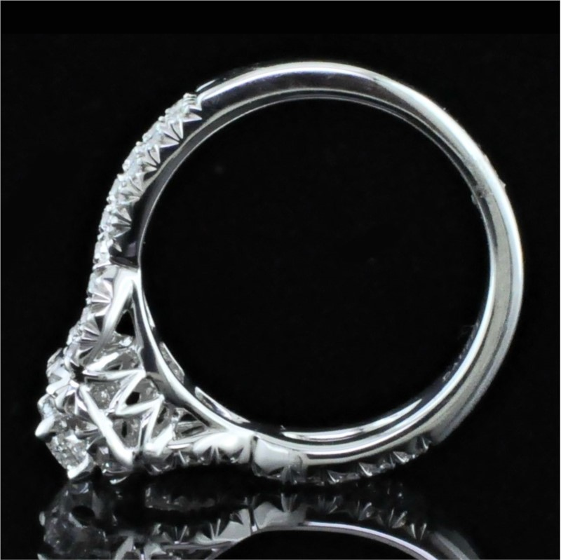Diamond Engagement Rings - Henri Daussi Diamond Engagement Ring - image 3