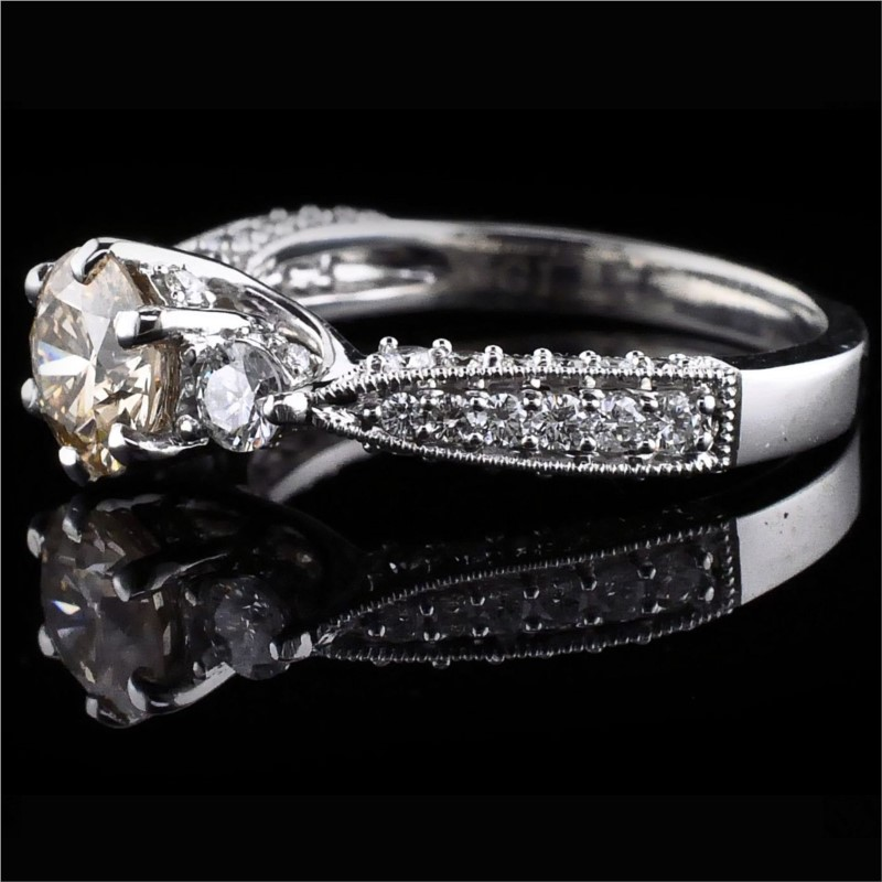 Diamond Engagement Rings - 14K White Gold Diamond Engagement Ring - image #2