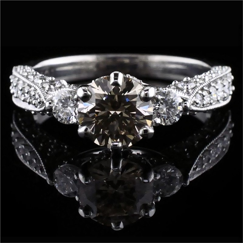 Diamond Engagement Rings - 14K White Gold Diamond Engagement Ring