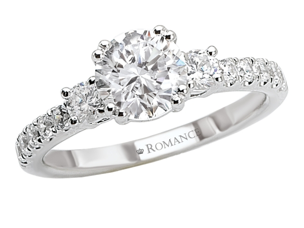 Engagement Rings - 3-Stone Round Diamond Ring