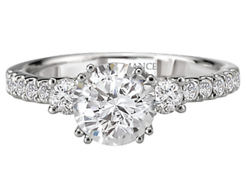 Engagement Rings - 3-Stone Round Diamond Ring - image #2
