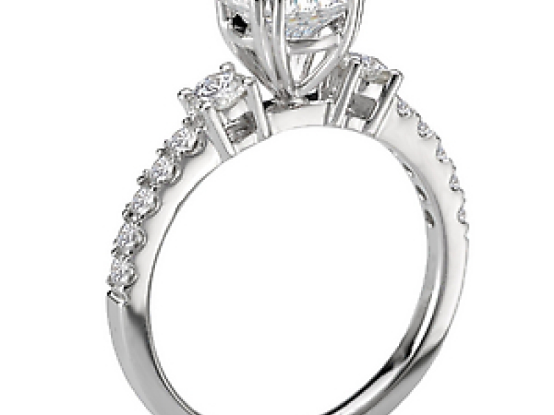Engagement Rings - 3-Stone Round Diamond Ring - image #3