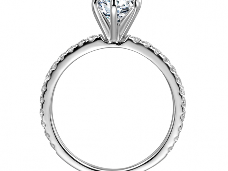 Engagement Rings - Classic 6 Prong Diamond Solitaire - image 2