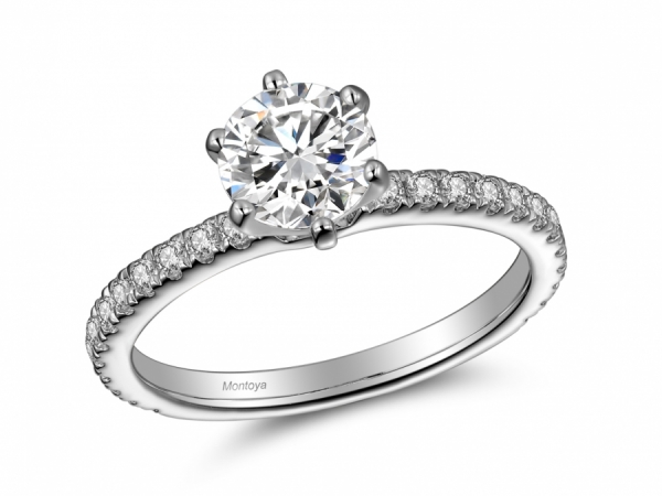 Engagement Rings - Classic 6 Prong Diamond Solitaire