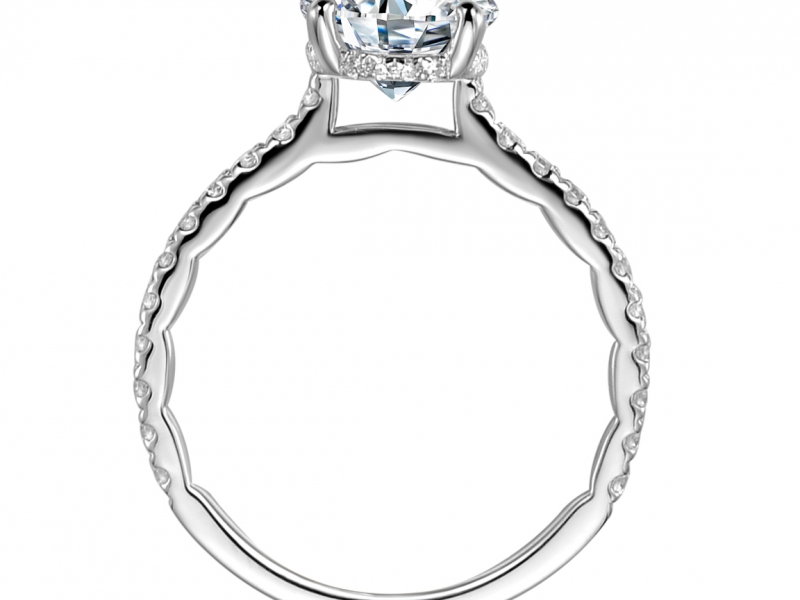 Engagement Rings - The Classy Classic Diamond Solitaire - image #2