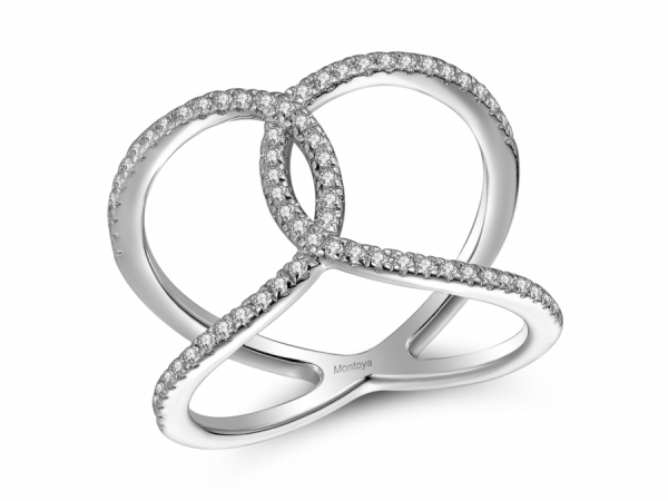 Diamond Fashion - 14k White Gold Criss Cross