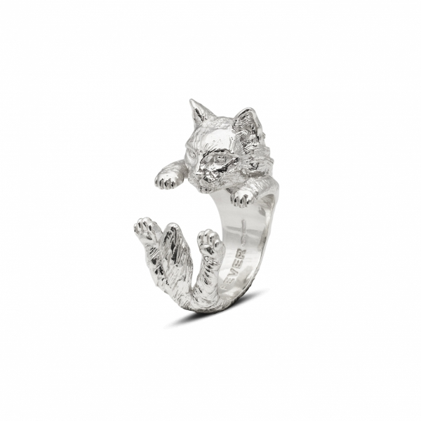 Cat Fever - Norwegian Silver Hug Ring
