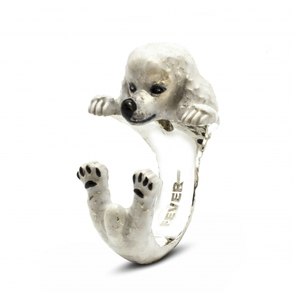 Poodle enamel hug ring by Dog Fever