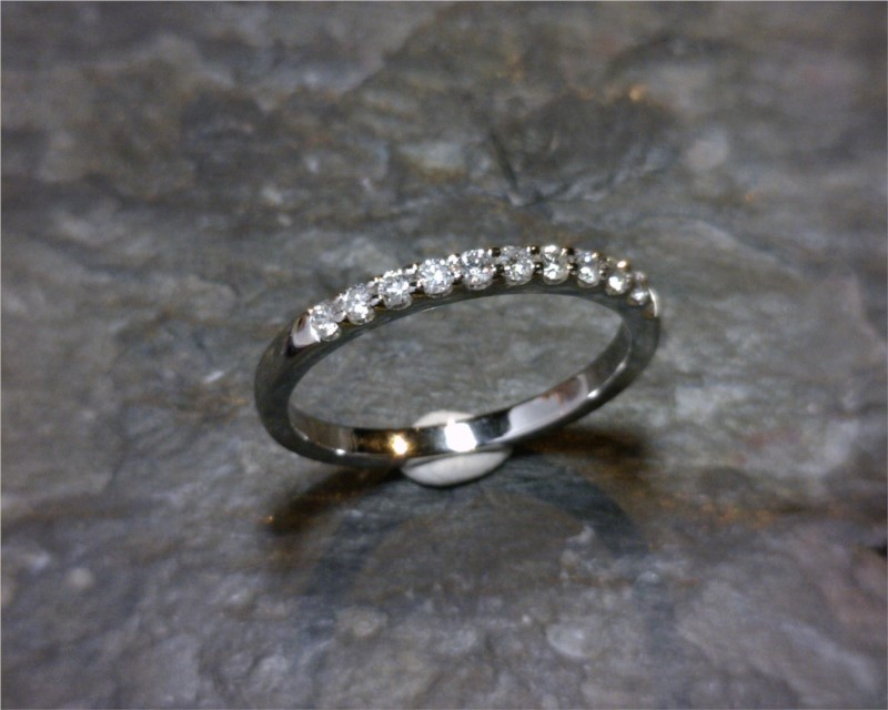 Diamond Engagement Rings/Wedding Bands - Wedding Band - image #2