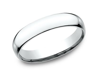 Wedding Band - 14 Karat White Gold Wedding Band  Ring Size 7 Style Details: This beautiful 5mm band features a slightly domed profile and Comfort-Fit on the inside for unforgettable comfort. Can be special ordered or re-sized per request.  Please contact for details.