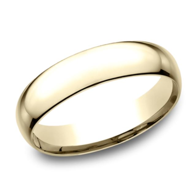 Wedding Band - 5mm comfort fit 14 Karat Yellow Gold Light Weight Wedding Band. Ring Size 7 Available in White Gold & Platinum. Prices will vary.