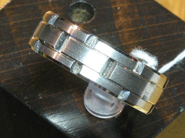 Mens Rings - Wedding Band - image #2