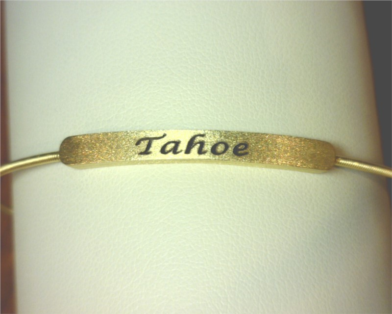 Bracelet - Gold Finish Sterling Silver Cable Cuff Tahoe Bracelet