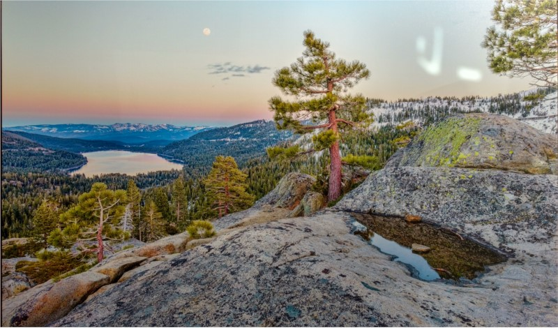 Paintings and Photography - Local Photograph of a Gentle Evening in Tahoe 36x54