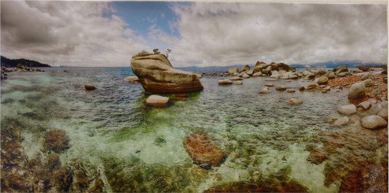 Paintings and Photography - Local Photograph Bonzai Pano Lake Tahoe 85x42