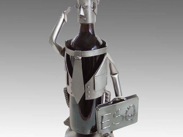 Esquire Male Wine Bottle Holder