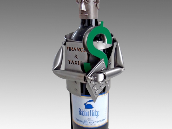 Financial Wizard/Accountant/Banker Wine Bottle Holder