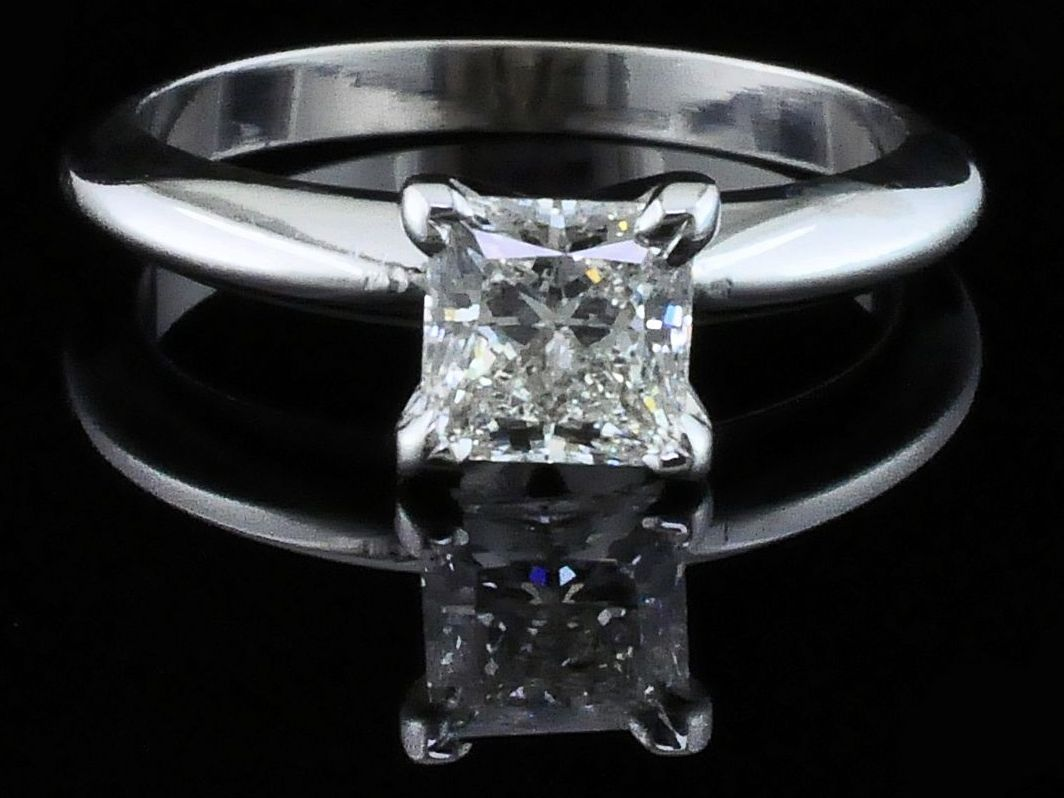 Diamond Engagement Rings - Firemark Princess Cut Diamond Solitaire Engagement Ring