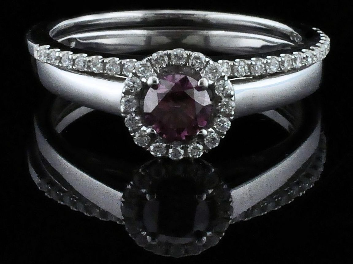 Diamond Engagement Rings - Pink Diamond Wedding Set