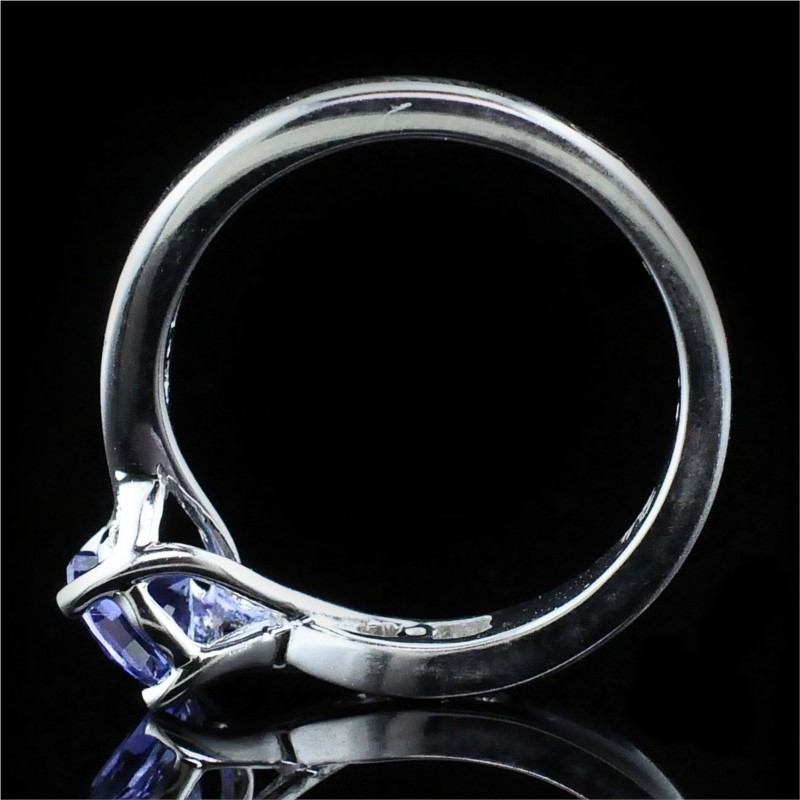 Diamond Engagement Rings - Sapphire and Diamond Wedding Set - image #3