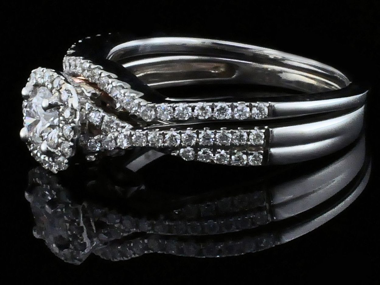 Diamond Engagement Rings - Steal Her Heart Collection Diamond Wedding Set - image #2