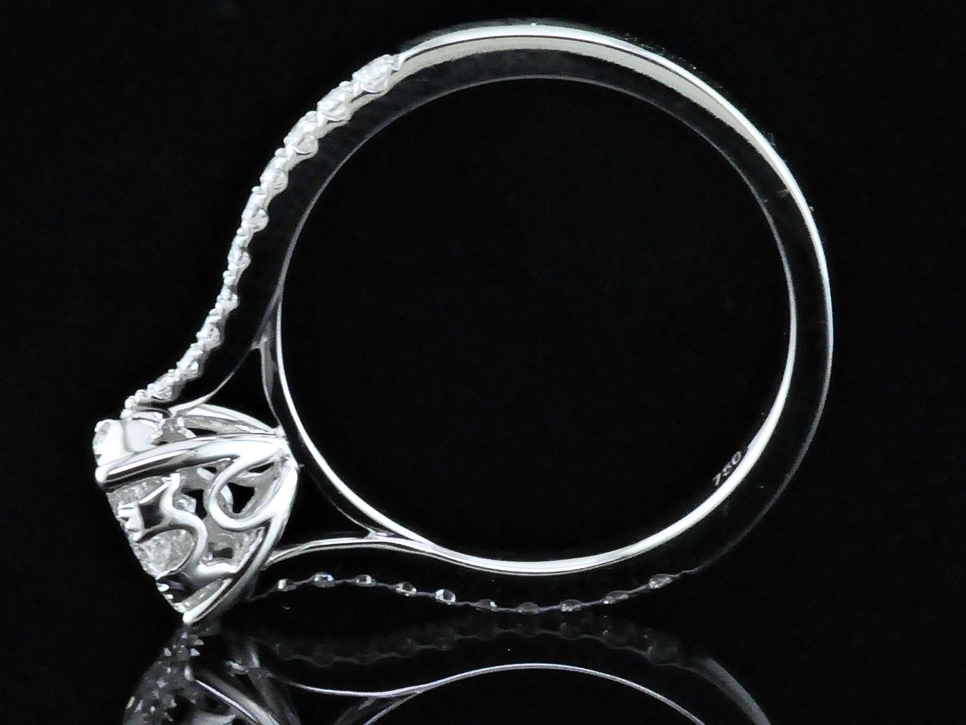 Diamond Engagement Rings - Diamond Cluster Engagement Ring - image #3
