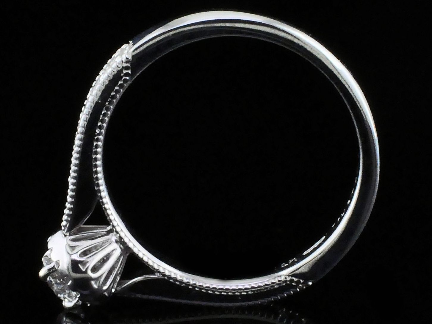 Diamond Engagement Rings - Hearts & Arrows Cut Diamond Engagement Ring - image #3