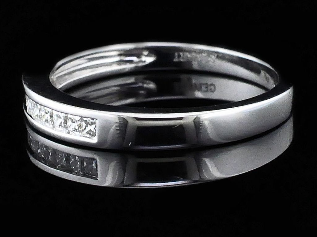 Women's Diamond Wedding Bands - Princess Cut Diamond Wedding Band - image #2