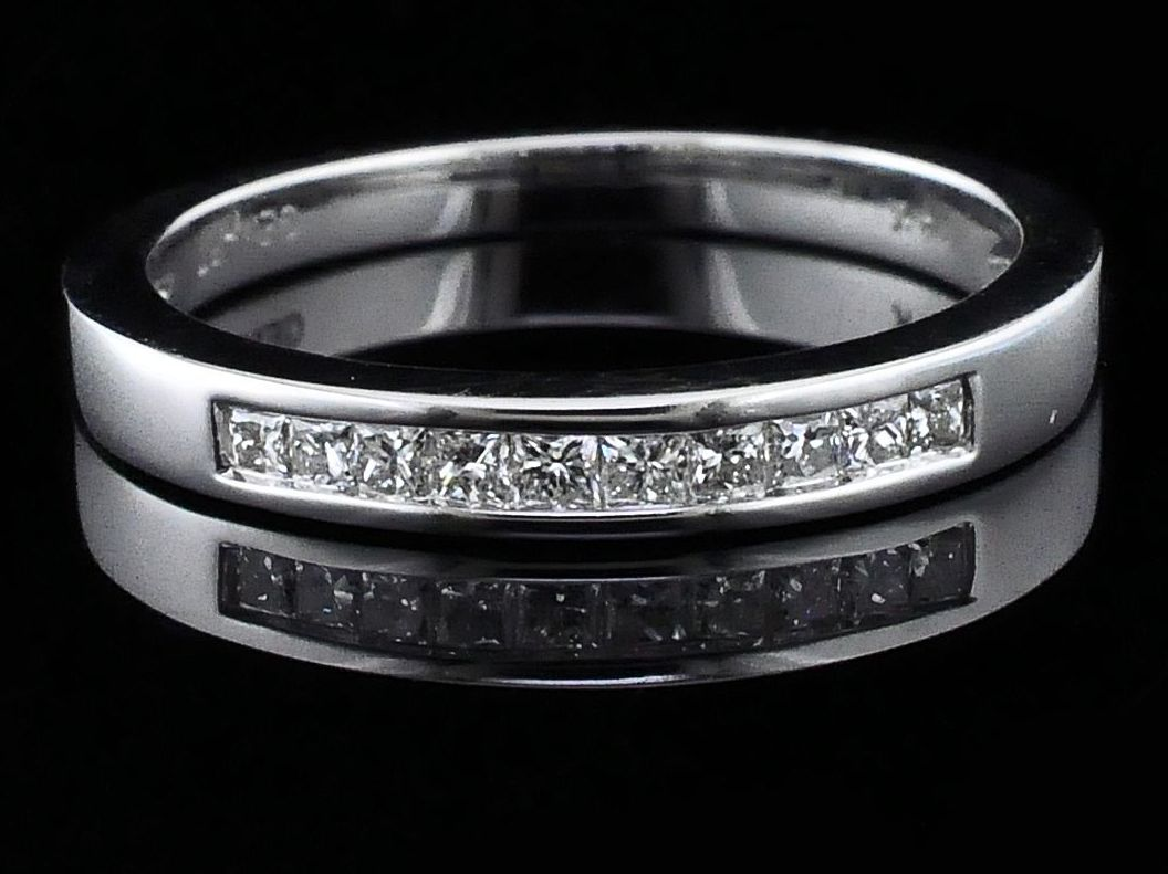 Women's Diamond Wedding Bands - Princess Cut Diamond Wedding Band