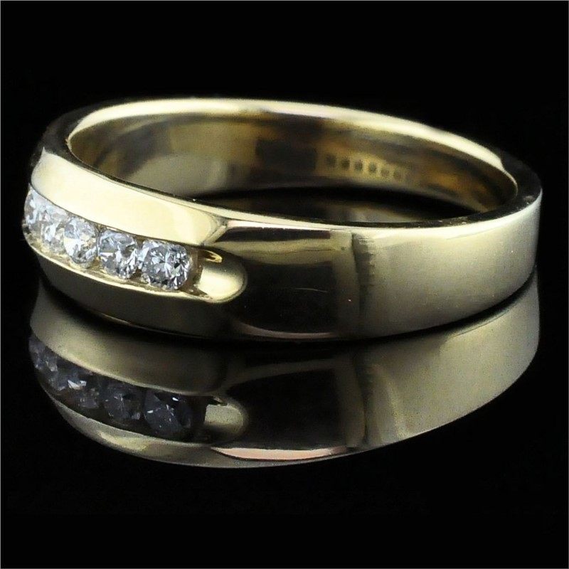 Men's Diamond Wedding Bands - True Romance Diamond Wedding Band - Men's - image #2