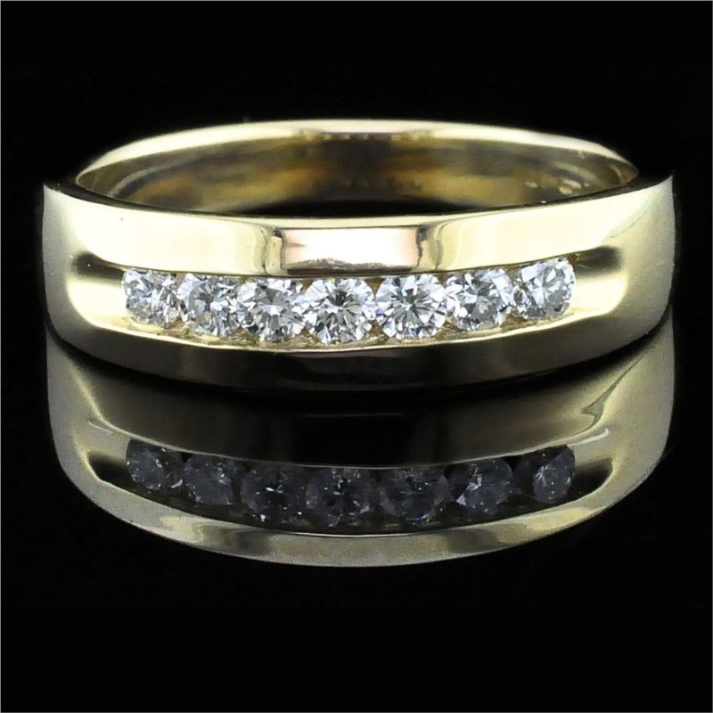 Men's Diamond Wedding Bands - True Romance Diamond Wedding Band - Men's