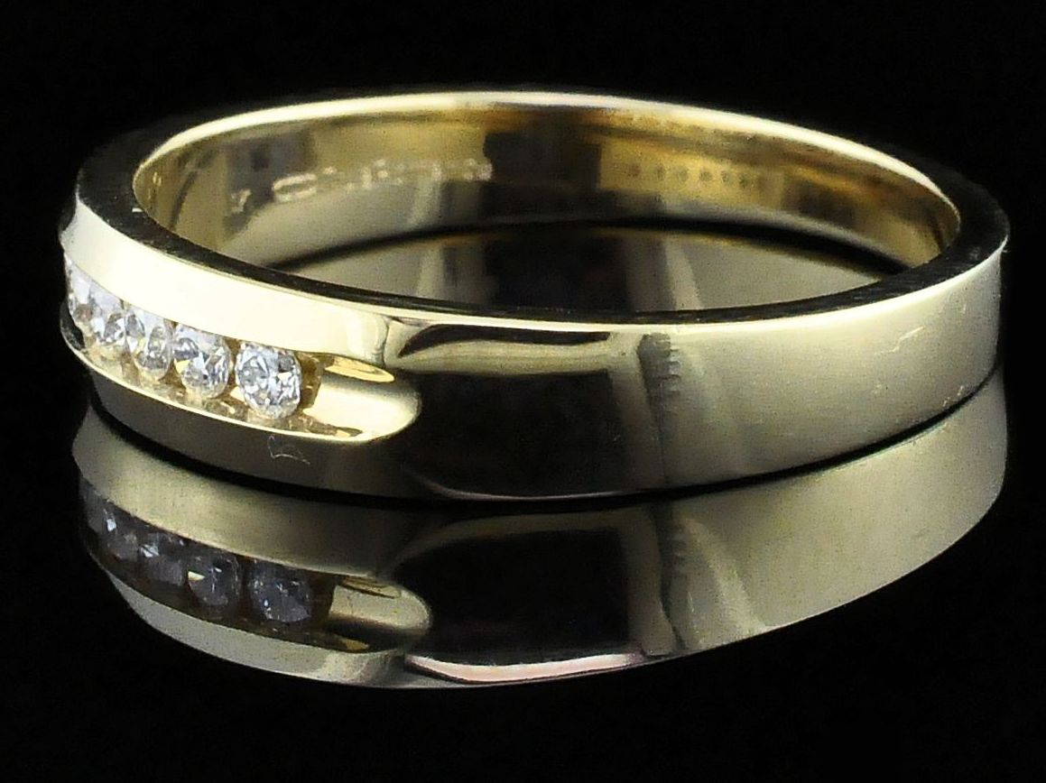 Men's Diamond Wedding Bands - True Romance Diamond Wedding Bands - Men's - image #2