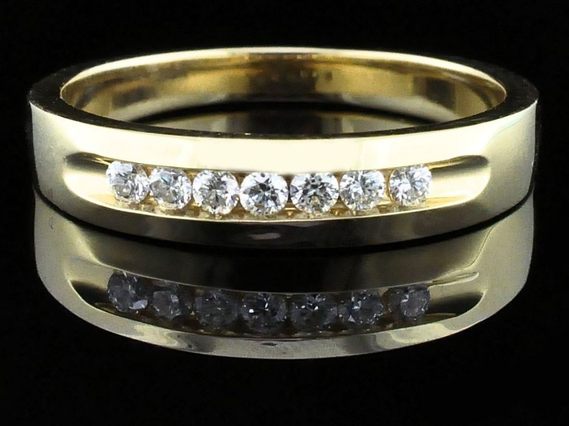 Men's Diamond Wedding Bands - True Romance Diamond Wedding Bands - Men's