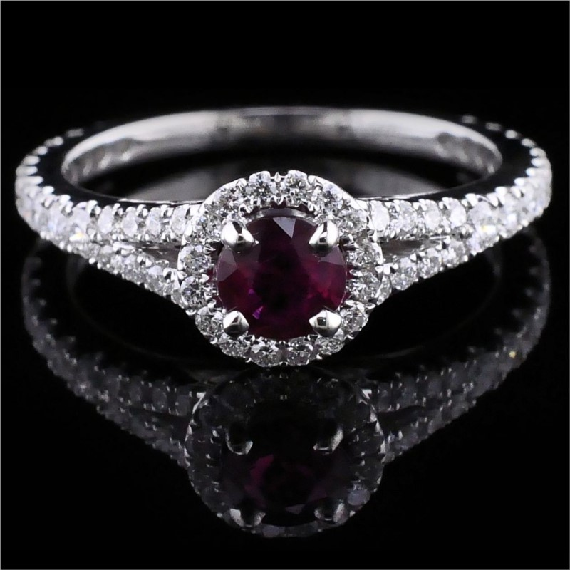 Women's Colored Stone Rings - Ruby And Diamond Ring