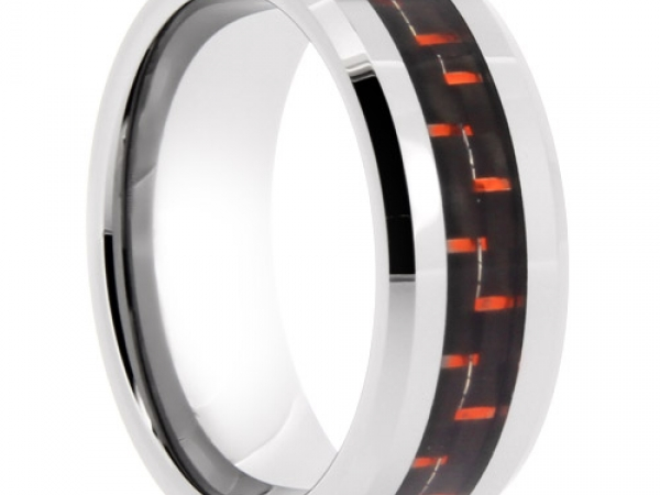 Tungsten Carbide Wedding Band - Tungsten Carbide Wedding Band - image 2