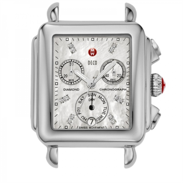 Michele Deco Day Collection | Watch with Mother of Pearl Dial & Diamond Accents | Style No. 001-608-03346