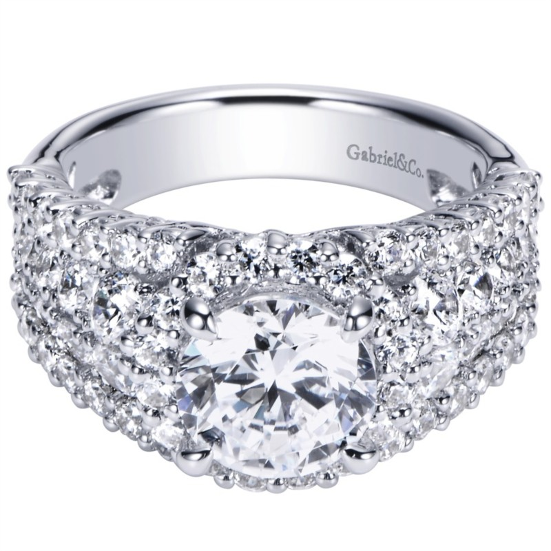 Gabriel & Co | 14K white gold & diamond Engagement Ring | Style No. 001-652-00010 ER8446W83JJ