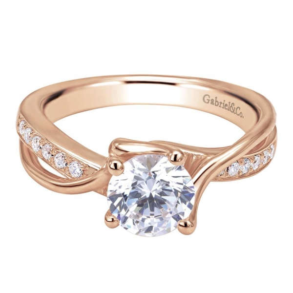 Gabriel & Co | 14K Rose Gold Halo Diamond Setting | Style No. 001-652-00633 ER6418K44JJ