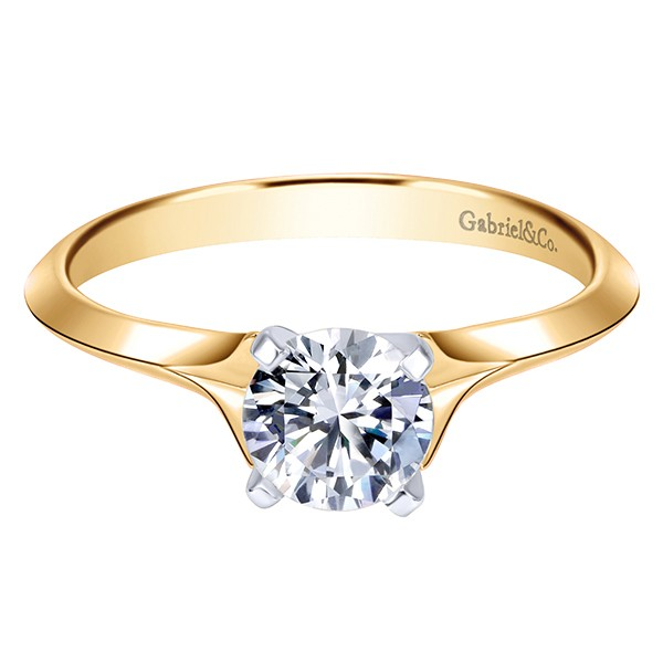 Gabriel & Co | 14K Yellow Gold Solitaire Engagement Ring Setting | Style No. 001-652-00733 ER6611Y4JJJ
