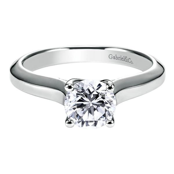 Gabriel & Co | 14K White Gold Solitaire Diamond Engagement Ring | Style No. 001-652-00745 ER6684W4JJJ
