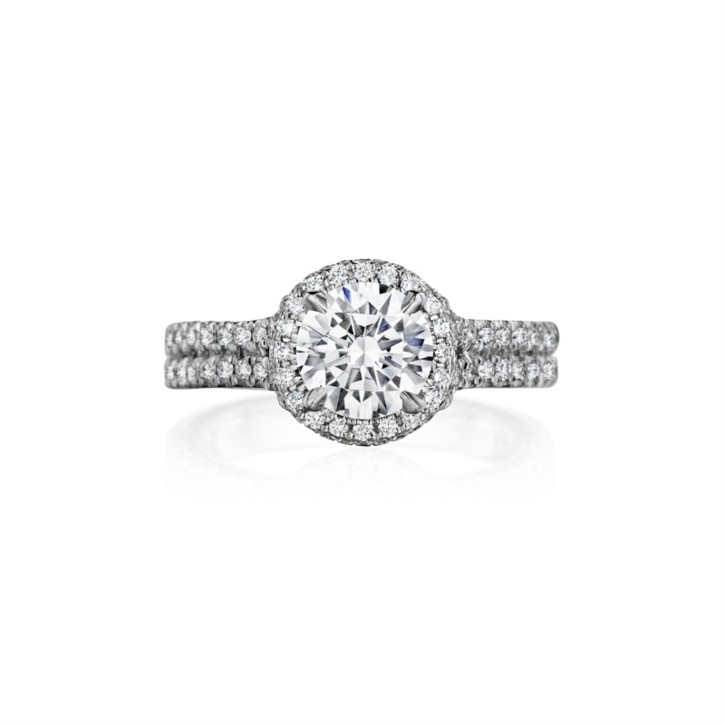 Henri Daussi | 14K White Gold Diamond Ring Setting | Style No. 001-656-00014
