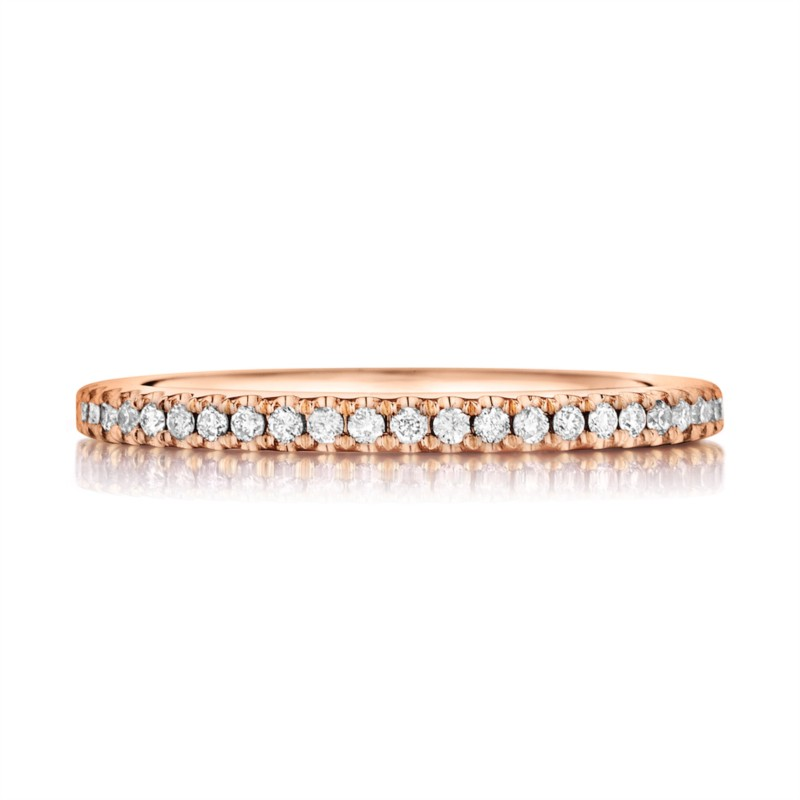 Henri Daussi | 18K Rose Gold Pavé Diamond Ring | Style No. 001-656-00232